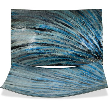 "Cobalt Twist Plate - 16"" Rectangle"