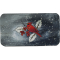 "Christmas Cardinal Plate - 12 1/2"" Rectangle"