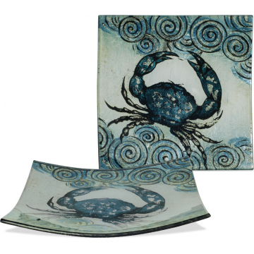 "Coastal Crab Plate - 5 1/2"" Square"