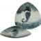 """Coastal Seahorse Plate - 11 1/2"""" Triangle"""