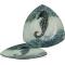 """Coastal Seahorse Plate - 14"""" Triangle"""