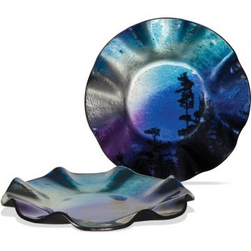 "Northern Lights 8"" Round Ripple Plate"