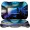 "Northern Lights 12"" Rectangle Ripple Plate"