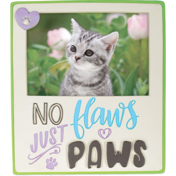 Pawsitive Photo Frame - No Flaws Just Paws