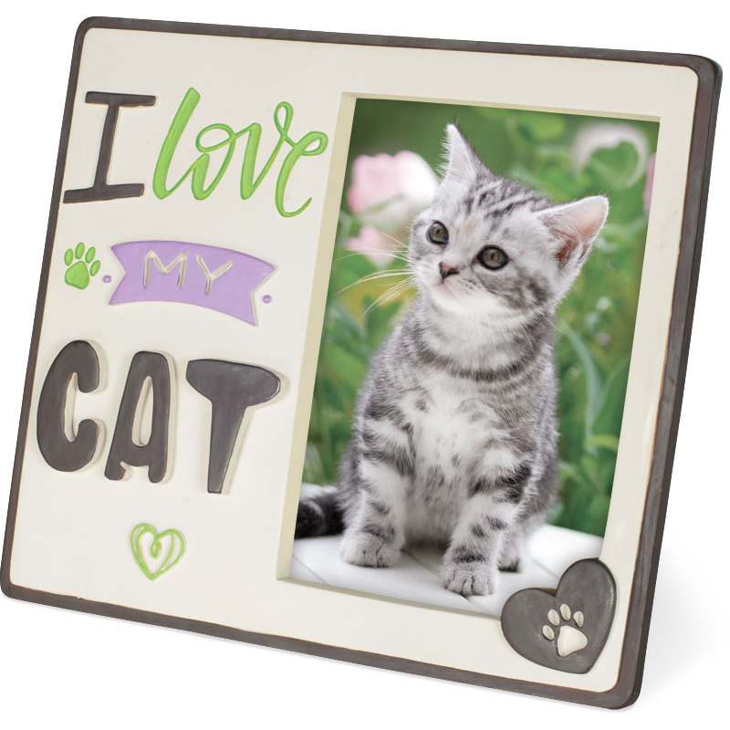 Pawsitive Photo Frame I Love My Cat