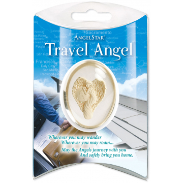 Travel Angel Pillow Packed Stone
