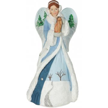 Winter Wonder-Full Angel Figurine - Joy