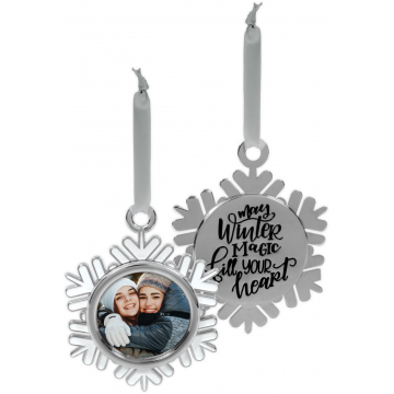Winter Wonder-Full Photo Ornament - May Winter Magic Fill Your Heart