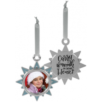 Winter Wonder-Full Photo Ornament - Carry Warmth in your Heart