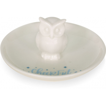Winter Wonder-Full Trinket Dish - Cheerful Owl