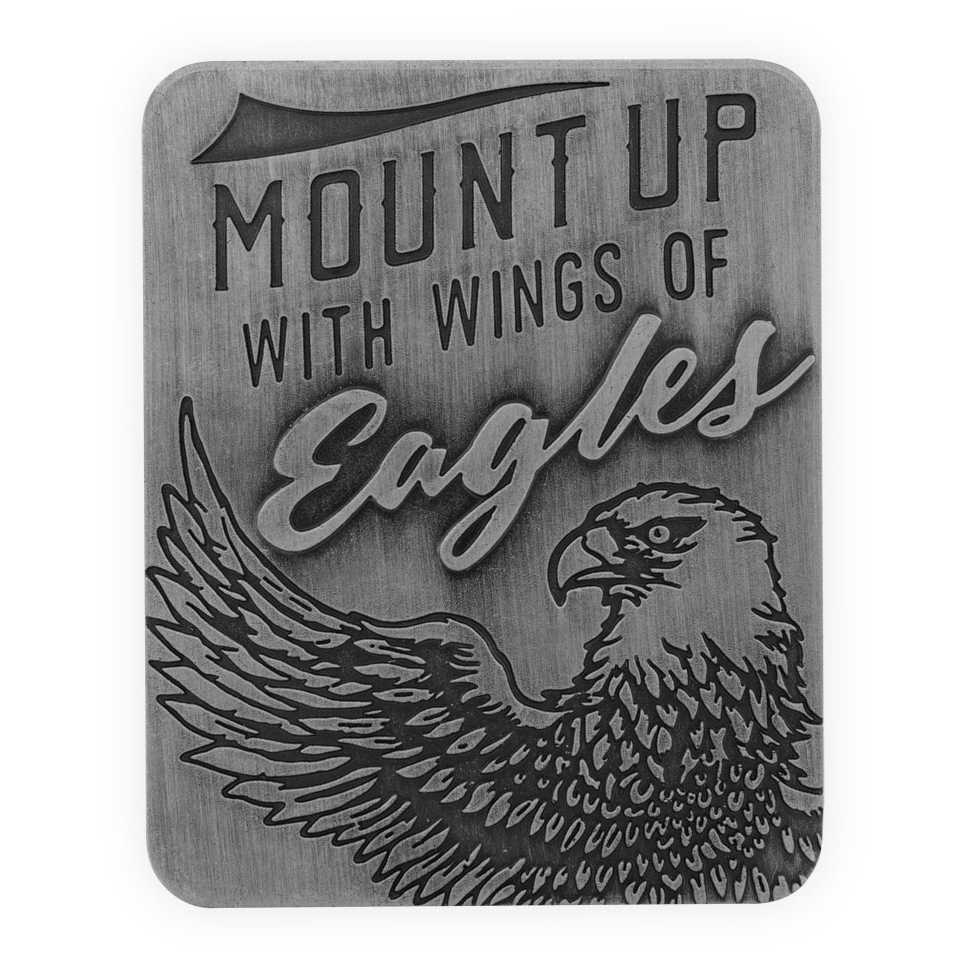 Ride on Wings of Eagles Guardian Eagle Visor Clip.