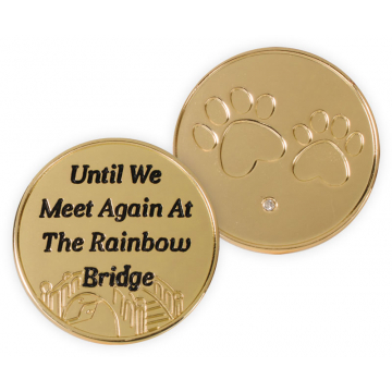 Rainbow Bridge Pet Token - Until We Meet Again at the Rainbow Bridge