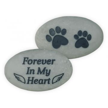 Rainbow Bridge Pet Stone - Forever In My Heart