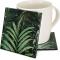 "Jungle Print 4"" Cozenza Glass Coaster Set"