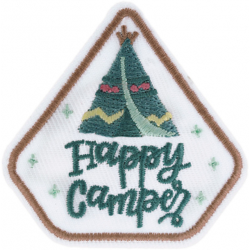Expedition: AngelStar Iron-On Patch - Happy Camper