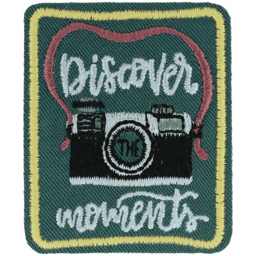 Expedition: AngelStar Iron-On Patch - Discover the Moments