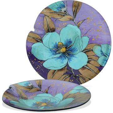 "Peony Flower - 12"" Round Plate"