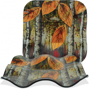"Autumn Leaves - 7.5"" Square Ripple Plate"