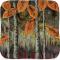 "Autumn Leaves - 11"" Square Ripple Plate"