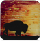 """Sunset Buffalo - 5.5"""" Square Plate"""