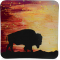 "Sunset Buffalo - 9"" Square Plate"
