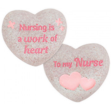 Heart of AngelStar Pocket Stone - Nurse