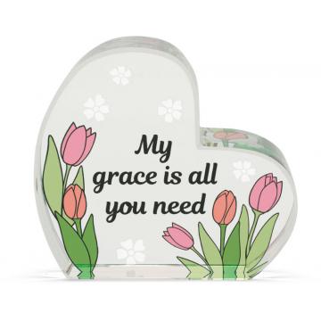 Heart of AngelStar Glass Plaque - Grace