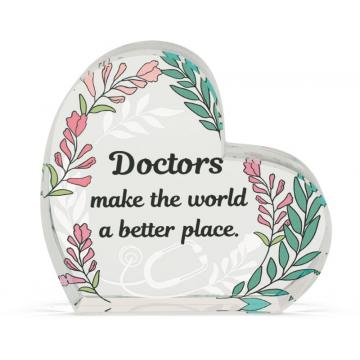 Heart of AngelStar Glass Plaque - Doctor
