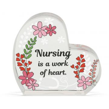 Heart of AngelStar Glass Plaque - Nurse