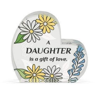 Heart of AngelStar Glass Plaque - Daughter