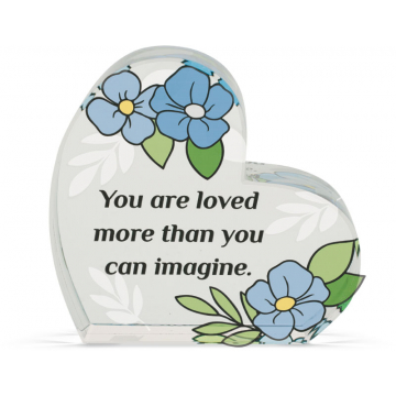 Heart of AngelStar Glass Plaque - Loved