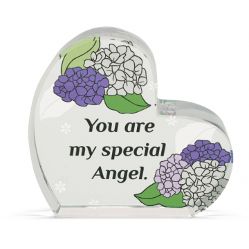 Heart of AngelStar Glass Plaque - Special Angel