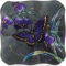 """Midnight Butterfly 6"""" Square Plate"""